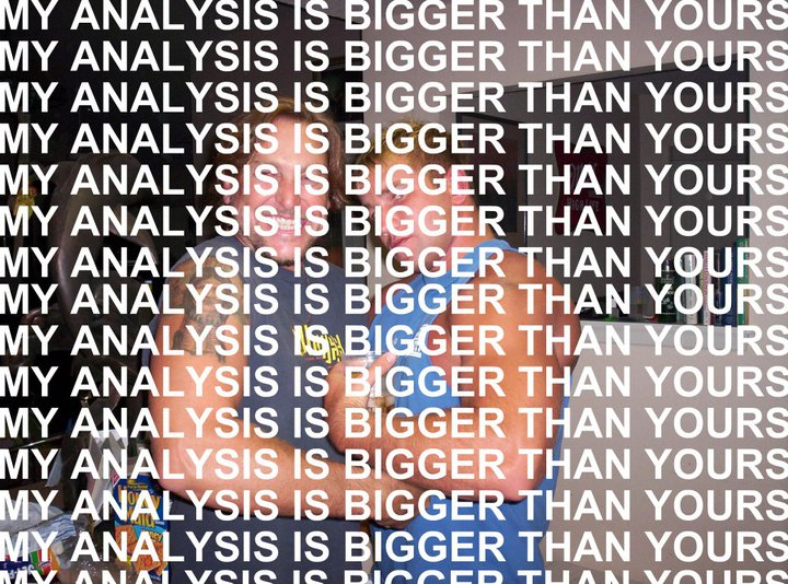 My Analysis is Bigger Than Yours